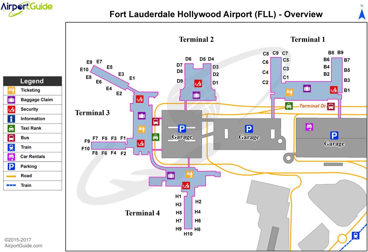 Fort Lauderdale Airport Parking Mapa