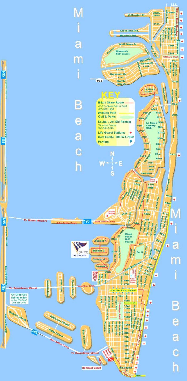 miami beach mapa - mapa de miami beach (florida - usa)